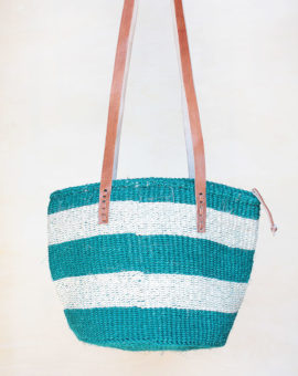 Green Handwoven African Basket Bag
