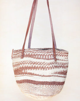 Handwoven Brown Sisal Basket Bag